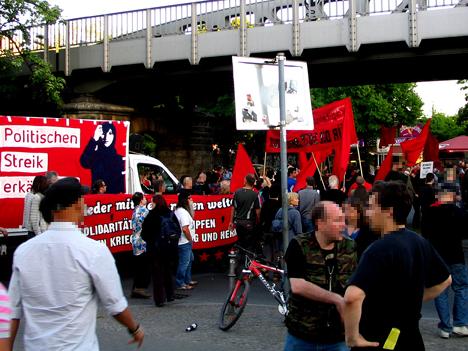 Neben diesem Block gab es den Jugend-, Antifa- und Mumia-Block