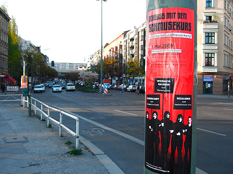 Mobilisierungsplakat in Kreuzberg